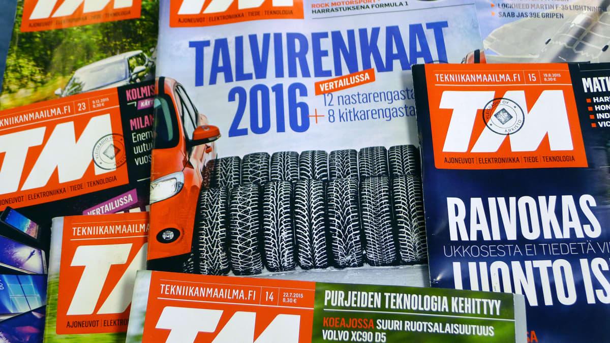 Tekniikanmaailma -lehtiä.