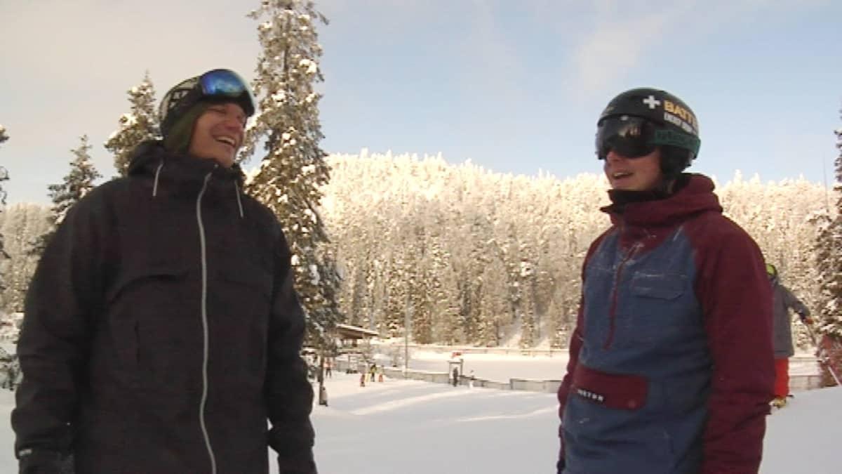 Mikko Wendelin ja Matti Suur-Hamari Rukalla