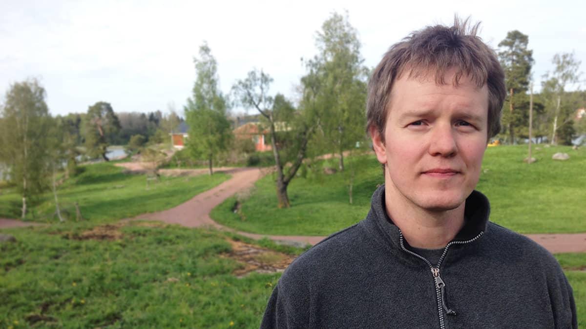 Perunanviljelijä Jonas Lundberg.