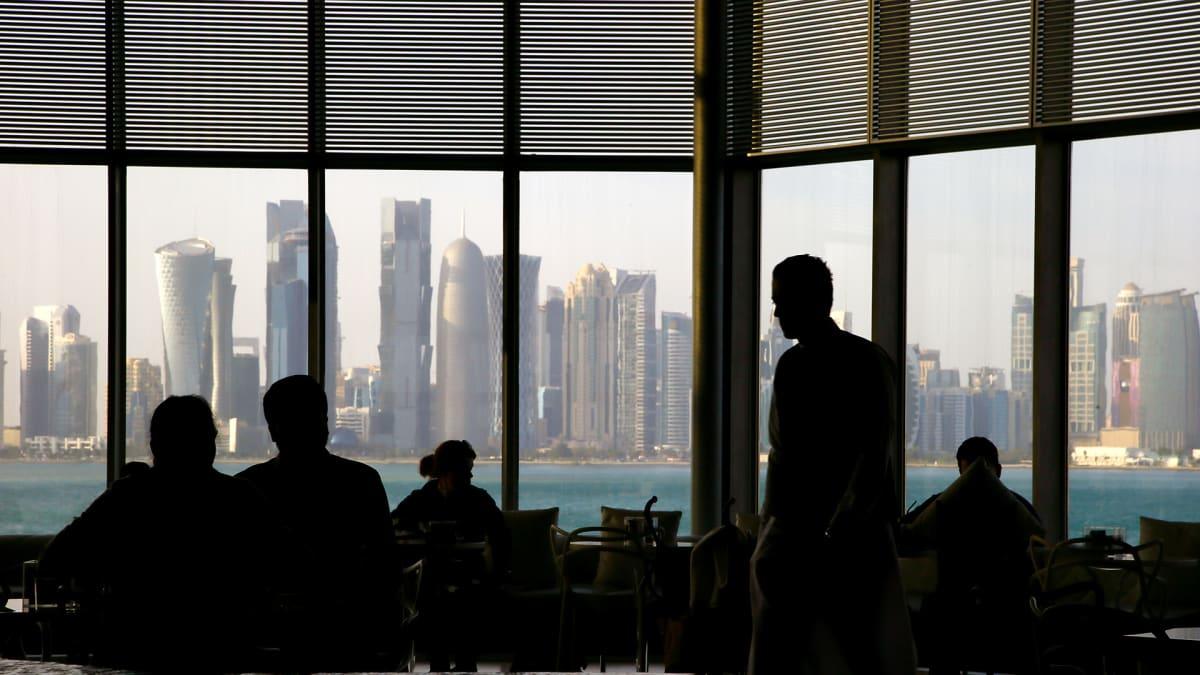 Näkymä Qatarin pääkaupunkiin Dohaan.