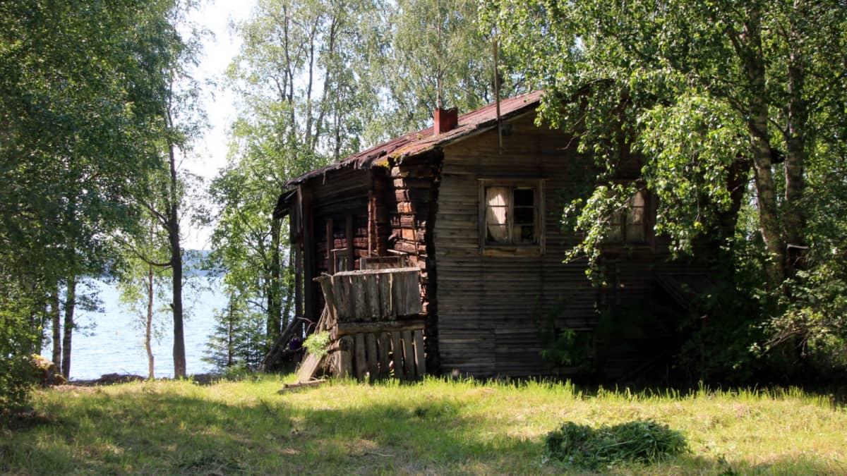 Sibeliusten hääaitta Lieksan Monolanniemessä Pielisen rannalla.