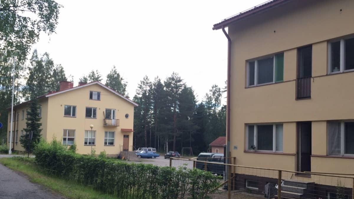 Kaksi koulurakennusta.