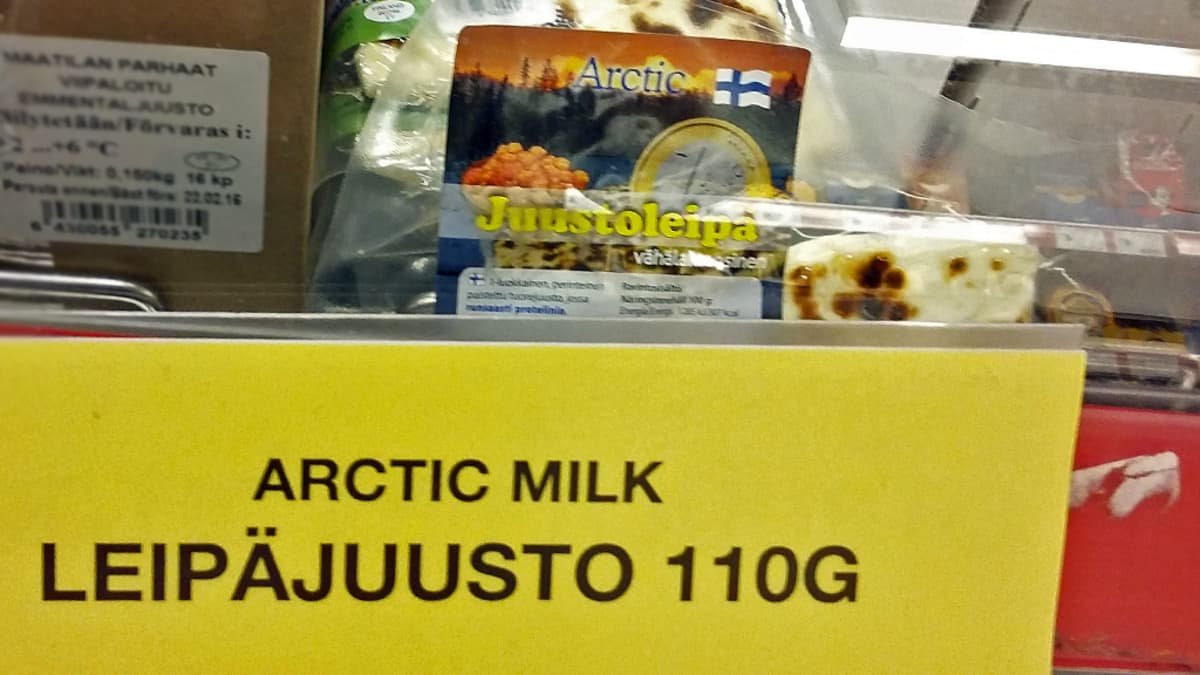 Valmistajan paketissa juustoleipää, mutta kauppias maiostaa leipäjuustoa
