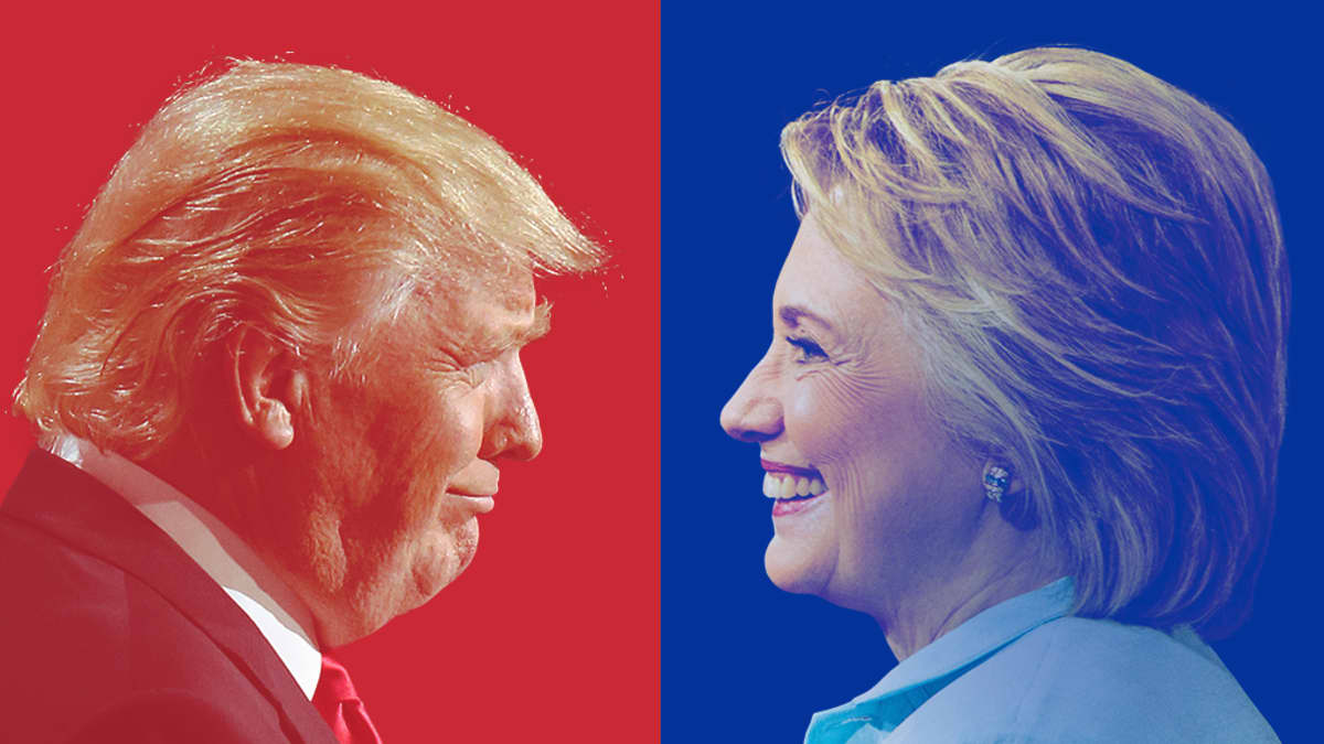Donald Trump ja Hillary Clinton.
