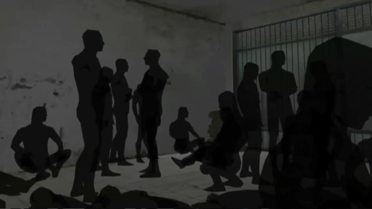 Piirroskuva jossa henkilöitä seisoo