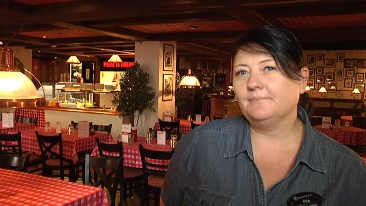 Ristorante Bella Roman ravintolapäällikkö Pia Luoto.