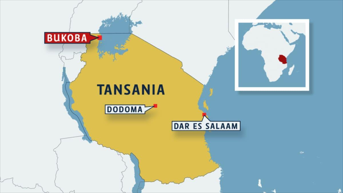 tansanian kartta