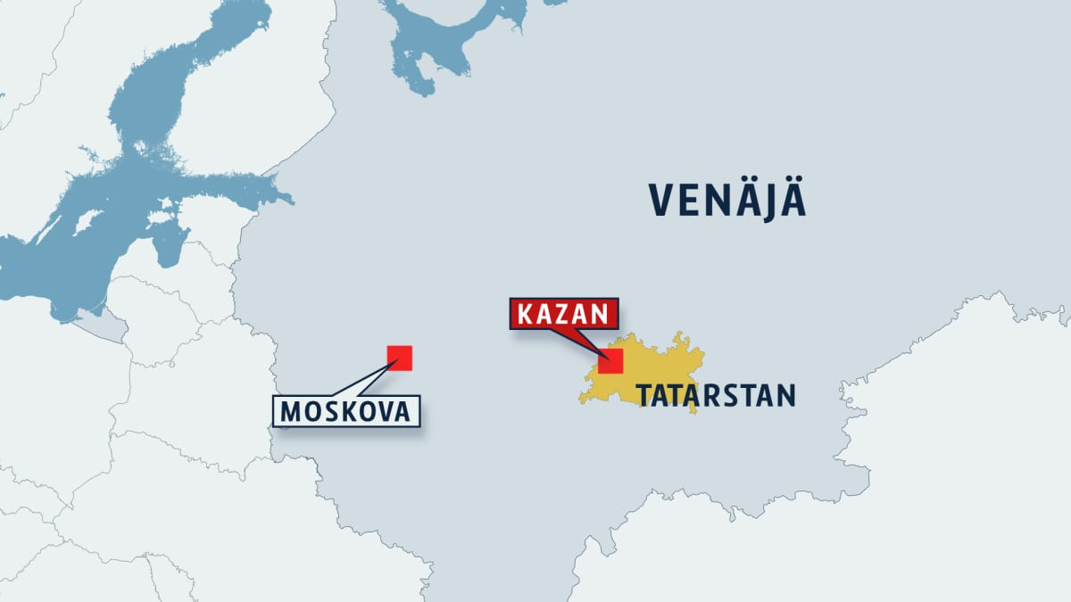 Tatarstanin kartta