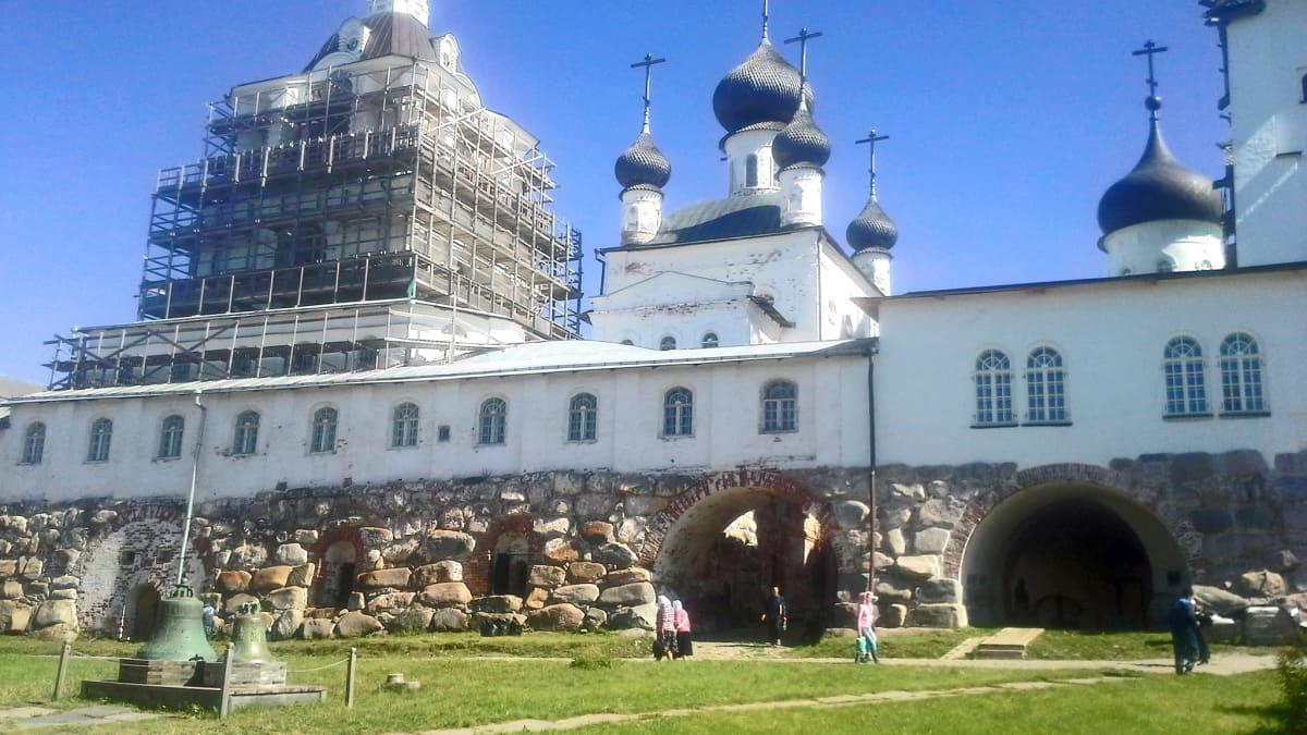 Solovetskin luostari Vienanmerellä Venäjällä
