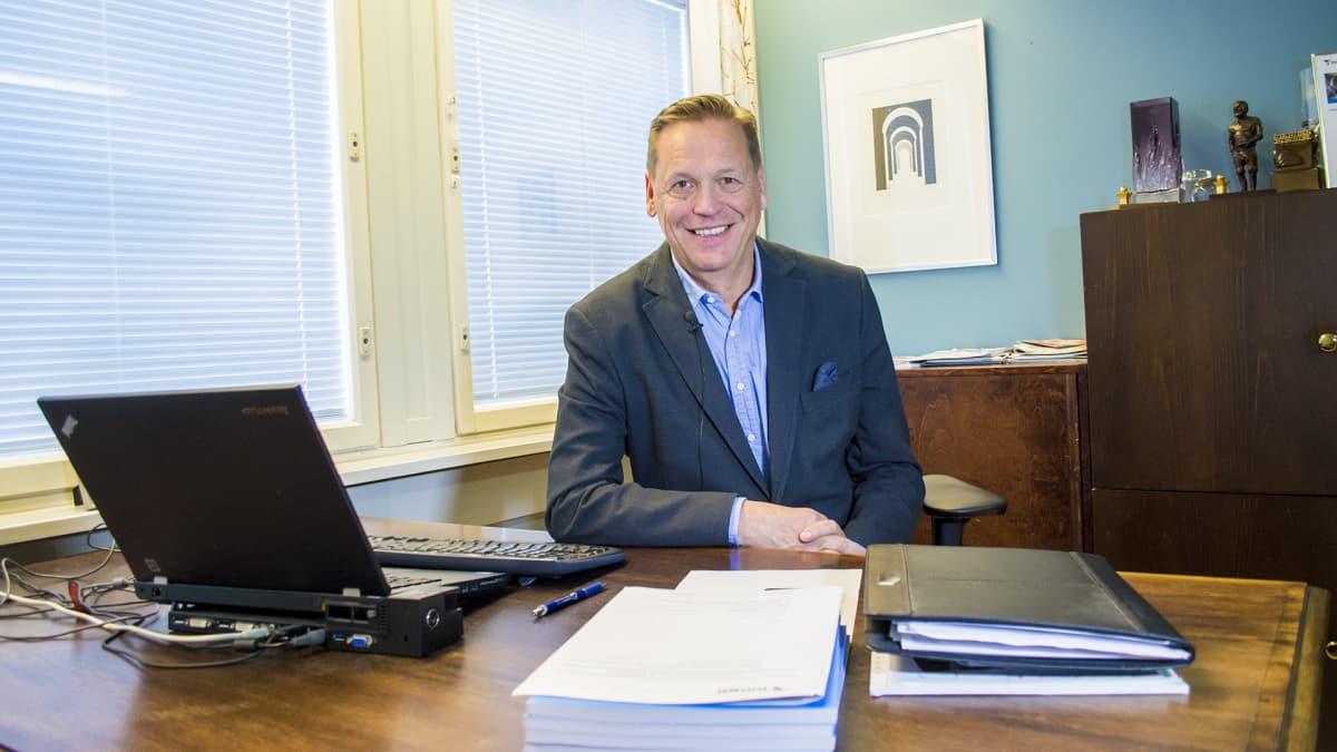 Kuvassa on Kainuun yrittäjien toimitusjohtaja Pekka Ojalehto.