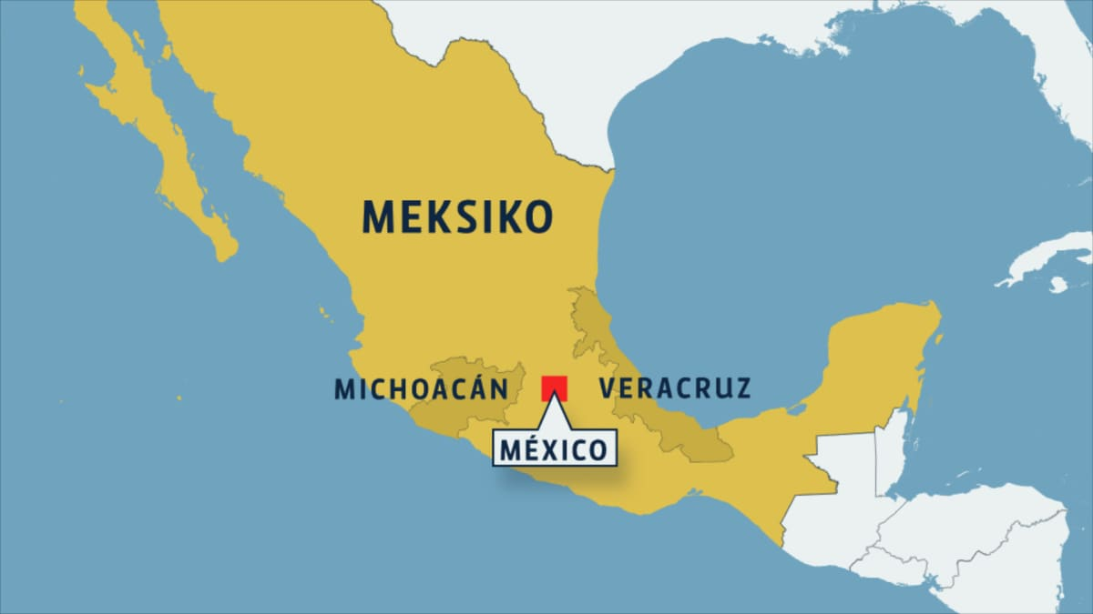 Meksikon kartta.