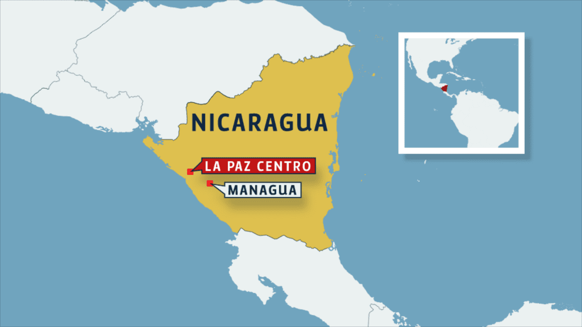 Nicaraguan kartta
