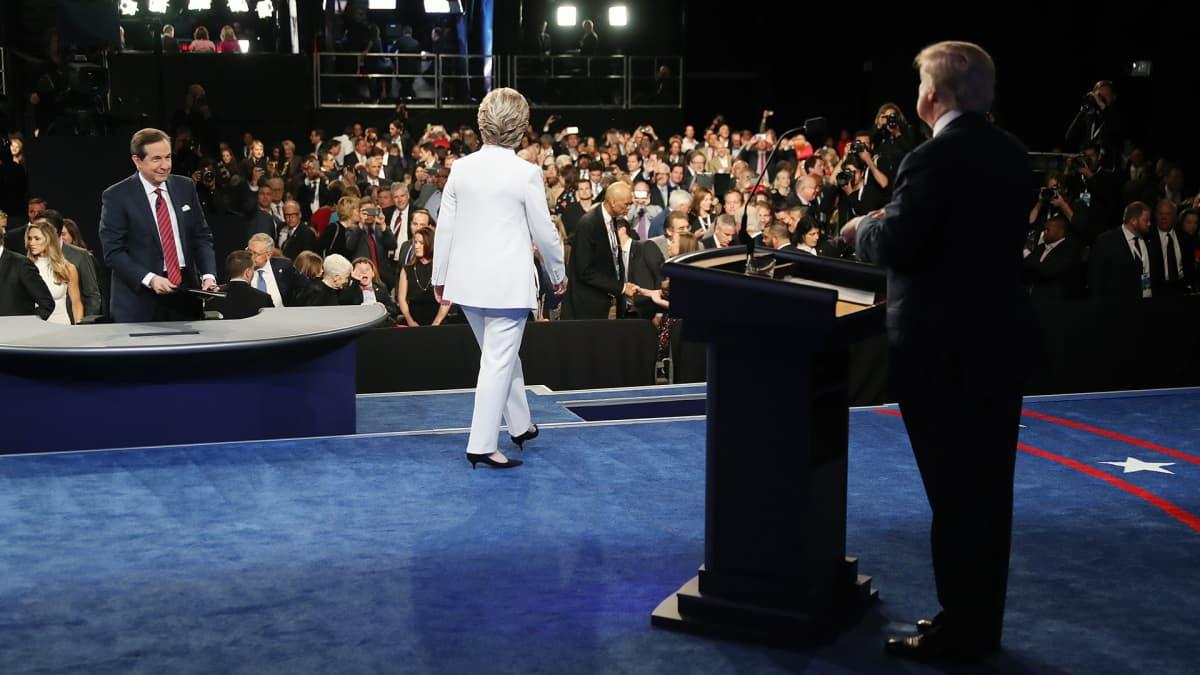 Donald Trumpin ja  Hillary Clintonin vaaliväittely Las Vegasissa.