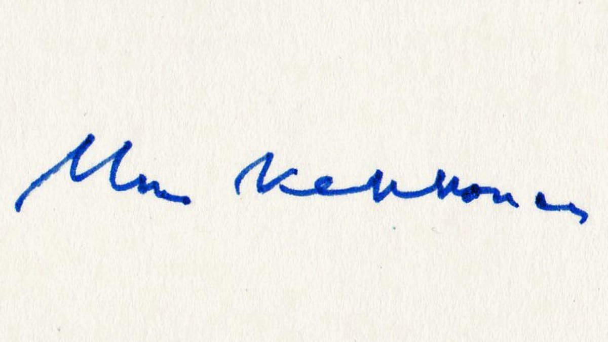 Kekkosen nimikirjoitus vuodelta 1981