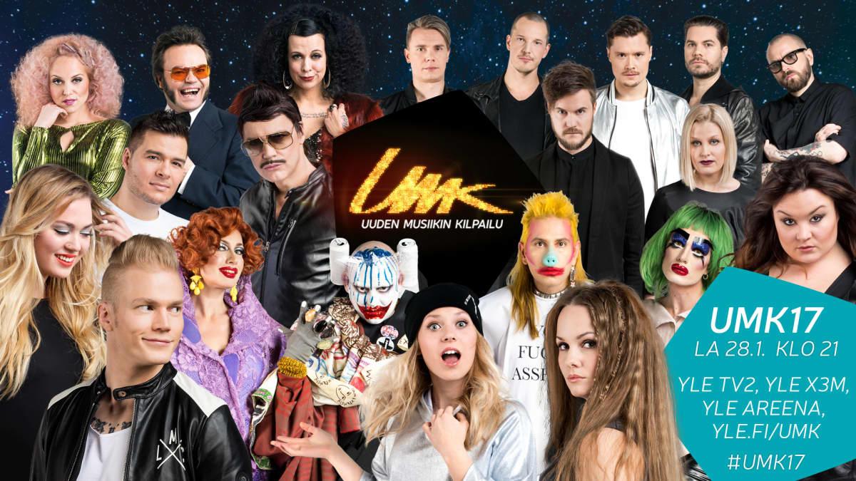 UMK:n kilpailijat ryhmäkuvassa