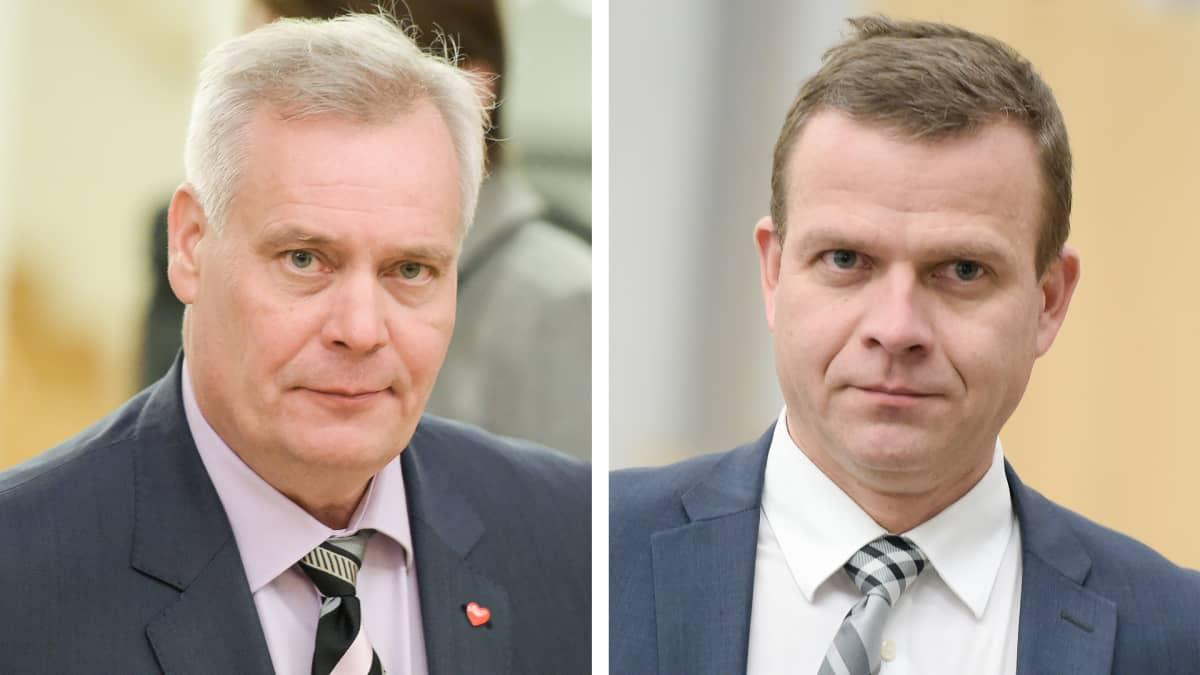 Antti Rinne ja Petteri Orpo.