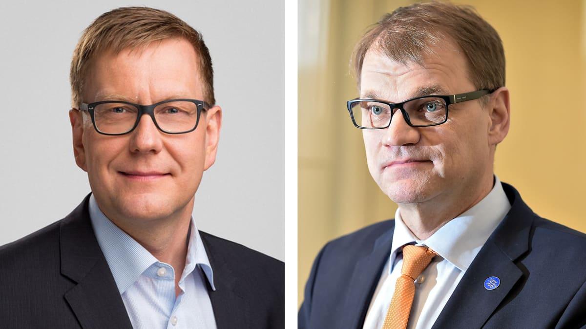 Atte Jääskeläinen ja Juha Sipilä.