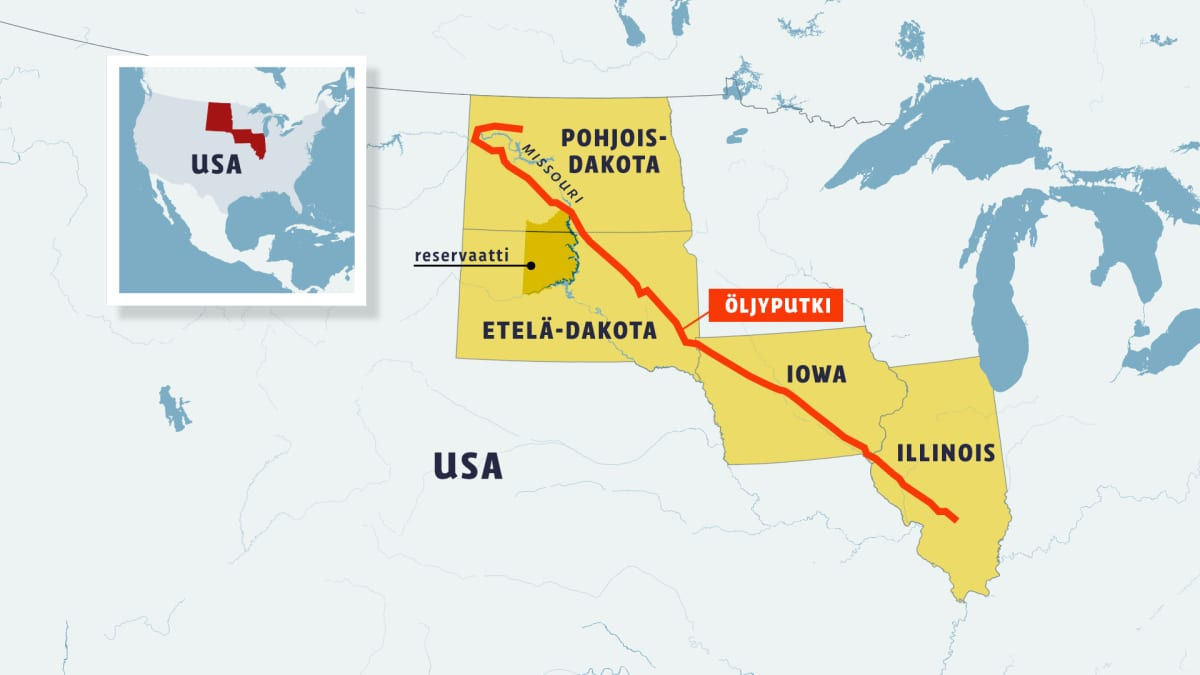 Dakotan öljyputken reitti