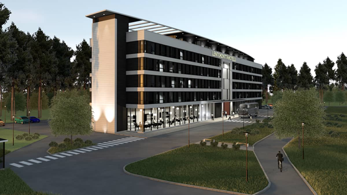 Ouluun rakennetaan lentokenttähotelli kentän läheisyyteen