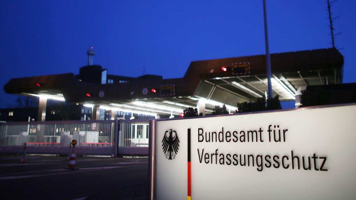 Saksan tiedustelupalvelun (BfV) toimisto Kölnissä.