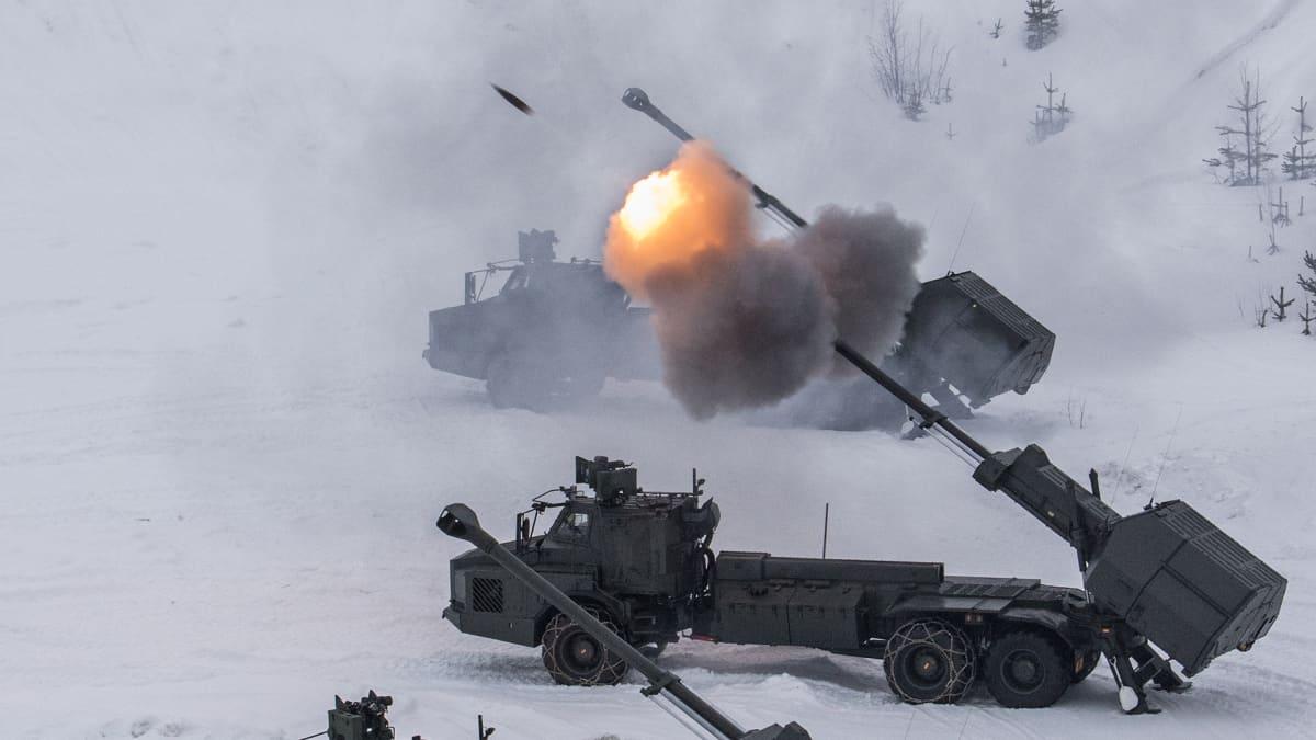 Vintersol 2016 sotaharjoitus Ruotsissa.