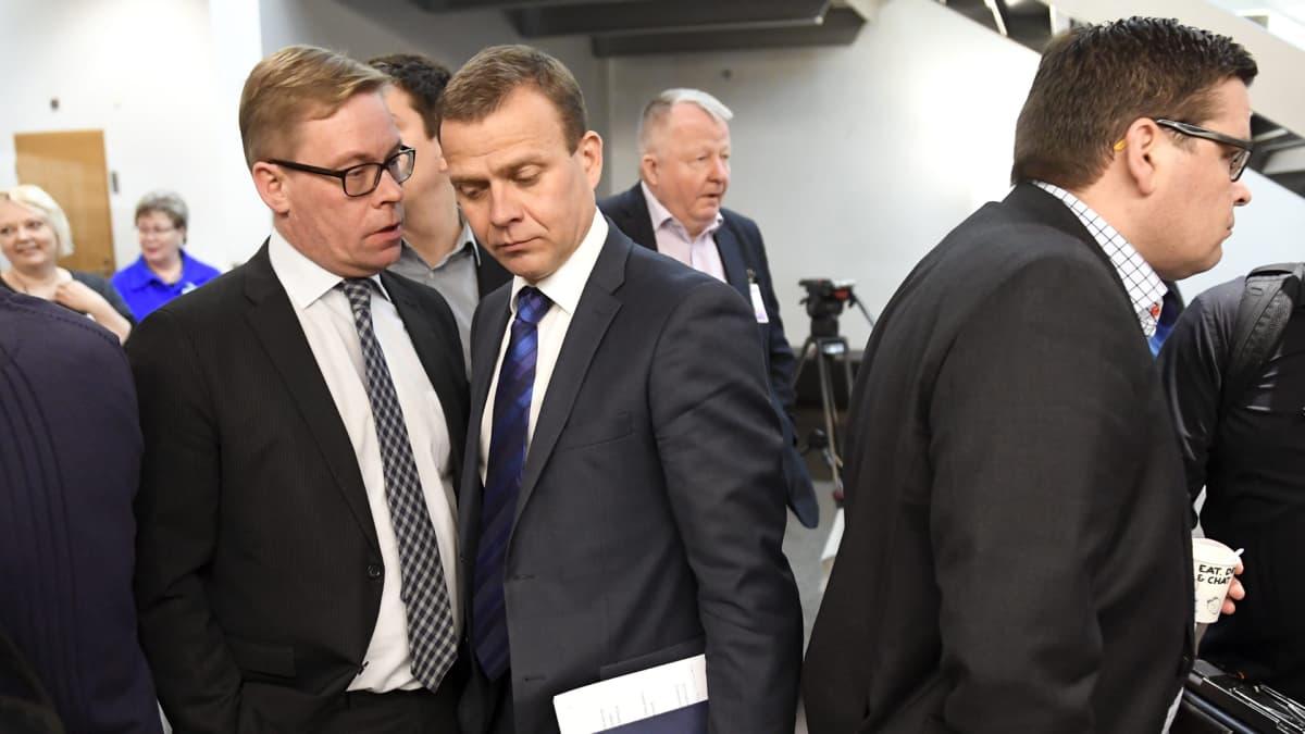 Kokoomuksen puoluevaltuuston kokous Helsingissä lauantaina 21. tammikuuta 2017.