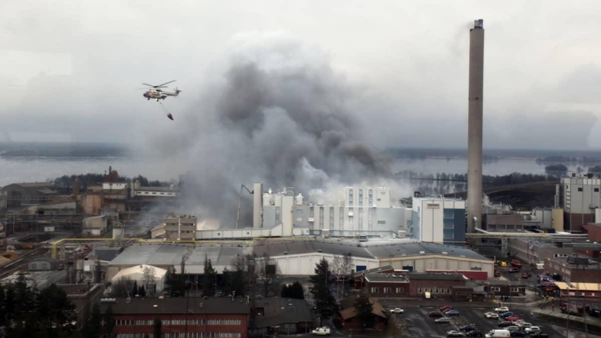 Tulipalo Huntsmanin tehtaassa