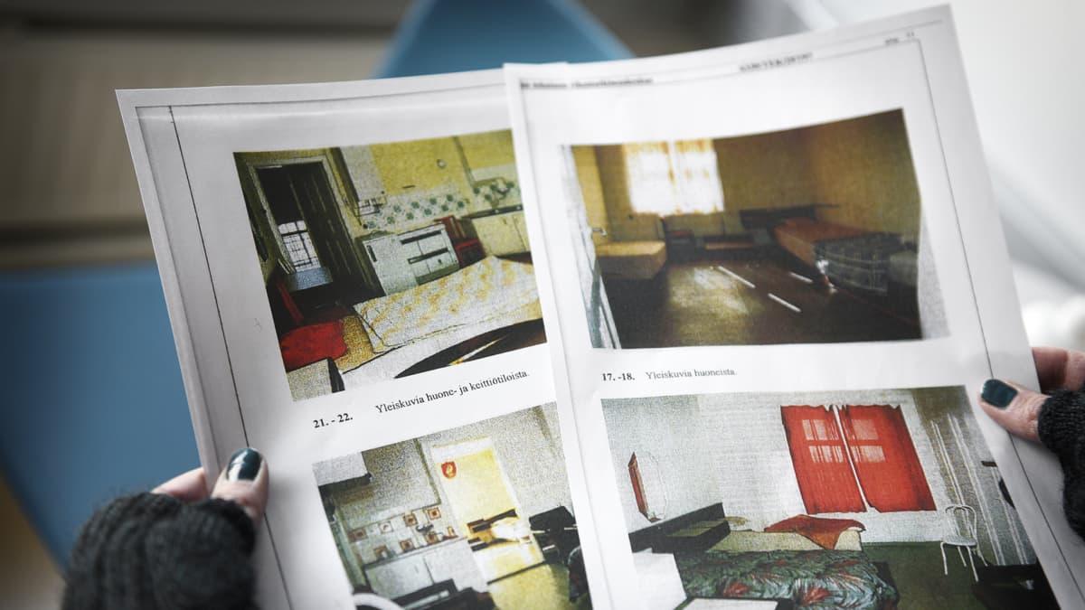 Poliisin tutkintakuvia liittyen punainen talo -tapaukseen.