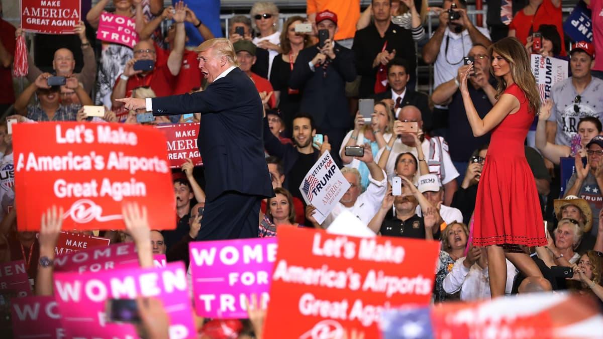 Donald Trump kampanjoi Melbournessa Floridassa 18. helmikuuta.