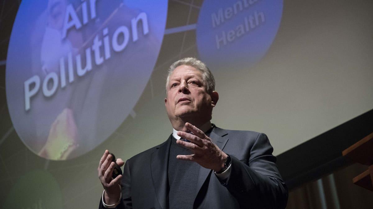 Yhdysvaltojen entinen varapresidentti ja nykyinen ympäristöaktivisti Al Gore