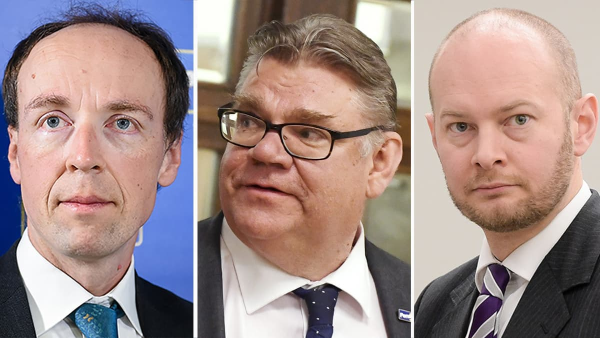 Jussi Halla-aho, Timo Soini ja Sampo Terho