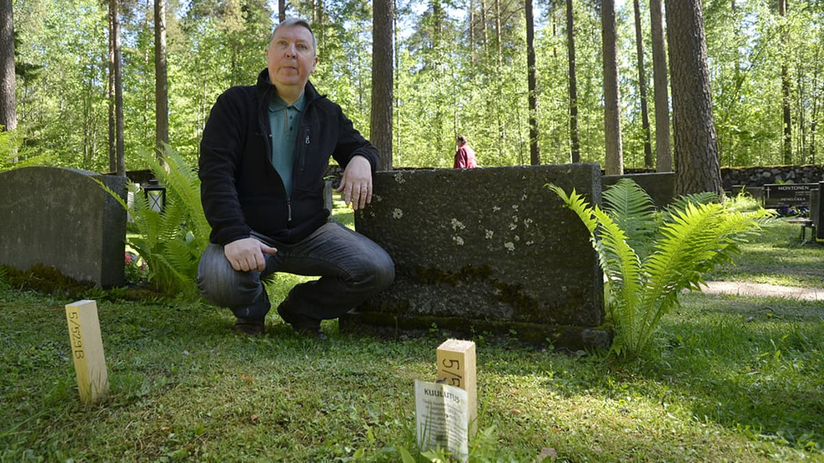 Jukka Nikunen Lepolan hautausmaalla Lappeenrannassa.