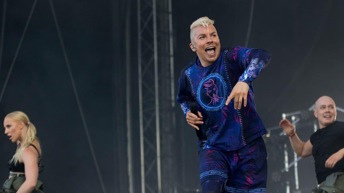 Antti Tuisku esiintyy Ruisrockissa lauantaina 8. heinäkuuta 2017.