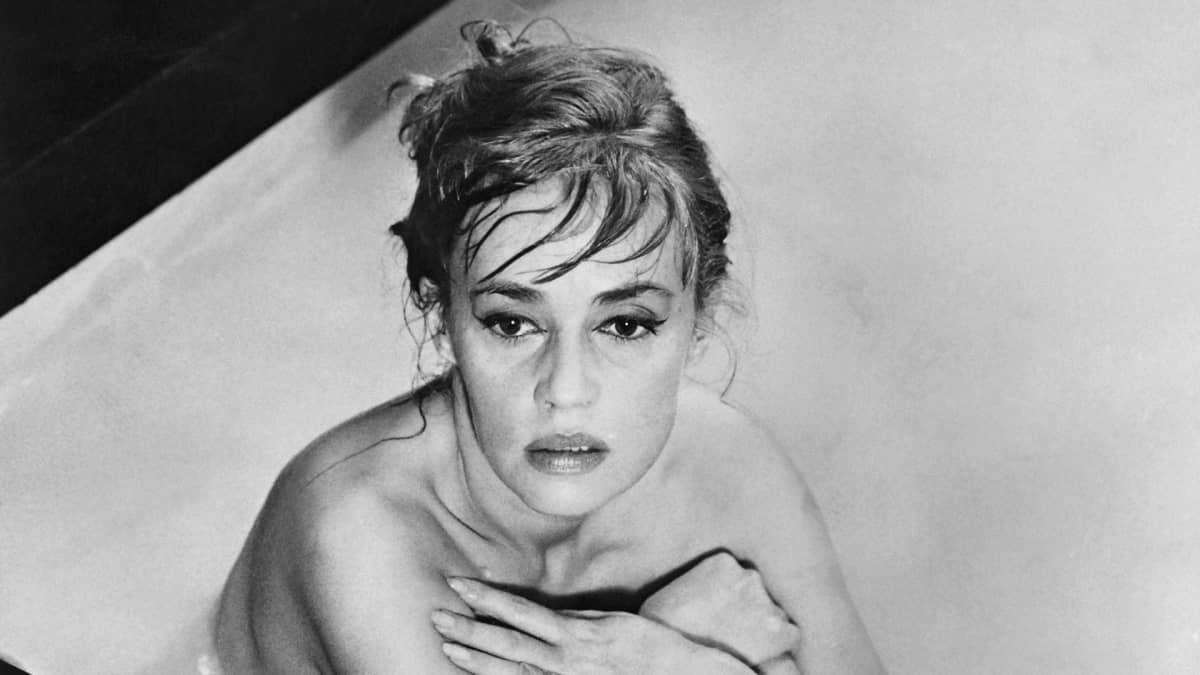 Jeanne Moreau Eva-elokuvan kuvauksissa vuonna 1961.