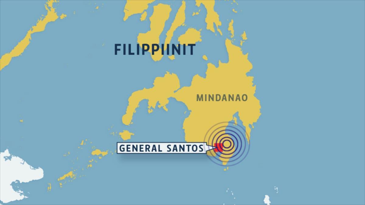 Filippiinien kartta.