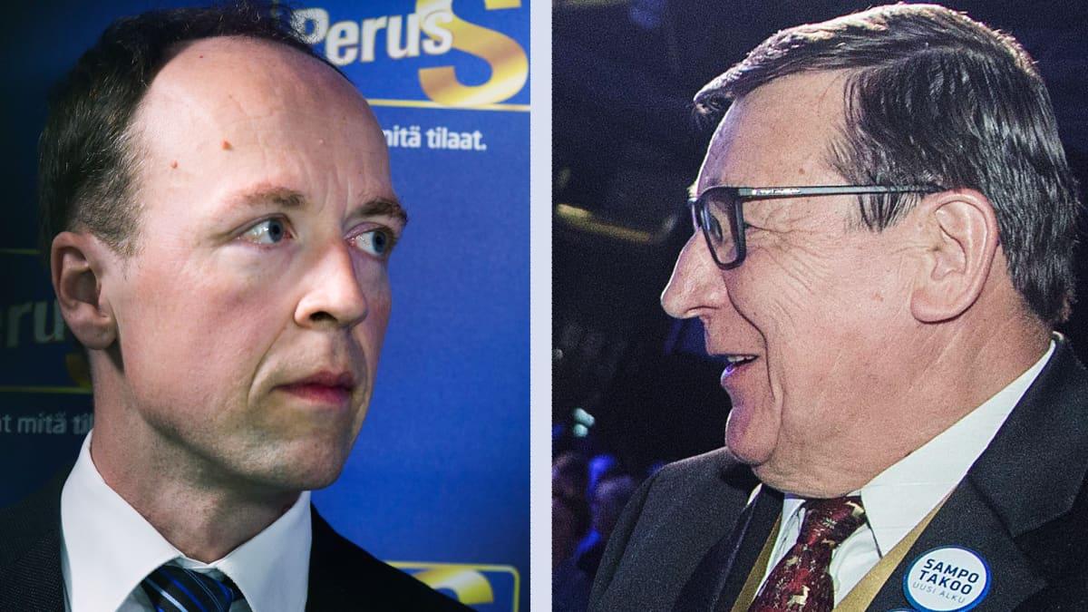 Jussi Halla-aho ja Raimo Vistbacka.