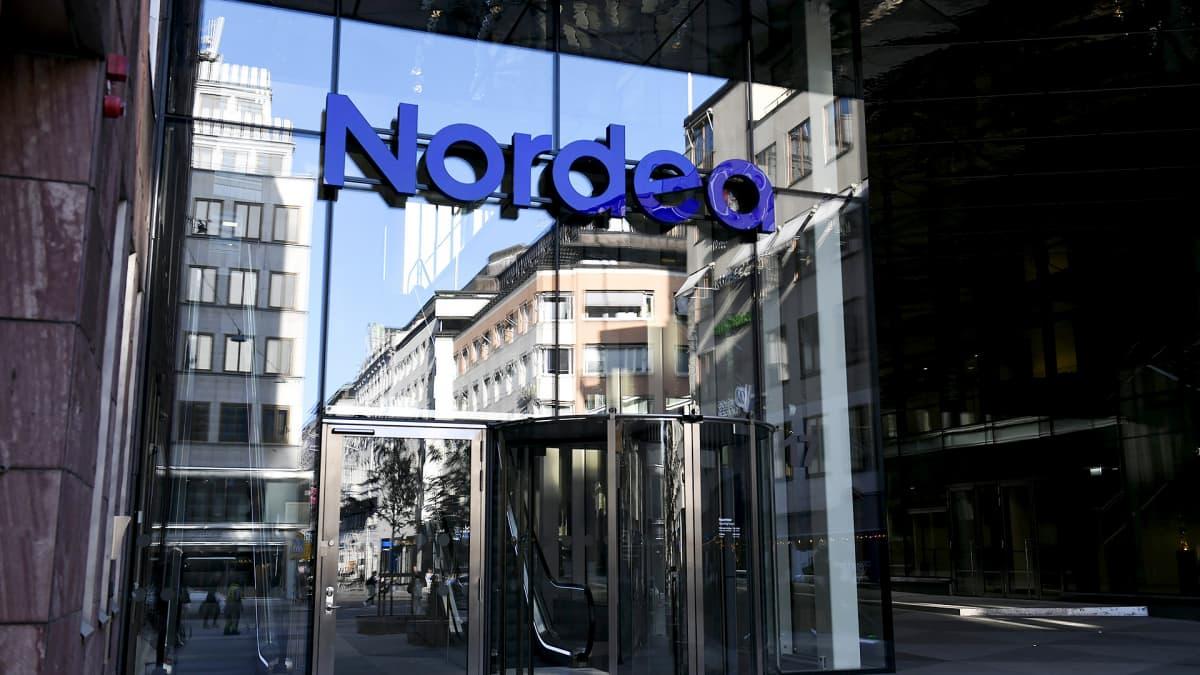 Nordean pääkonttori sisäänkäynti Tukholmassa.