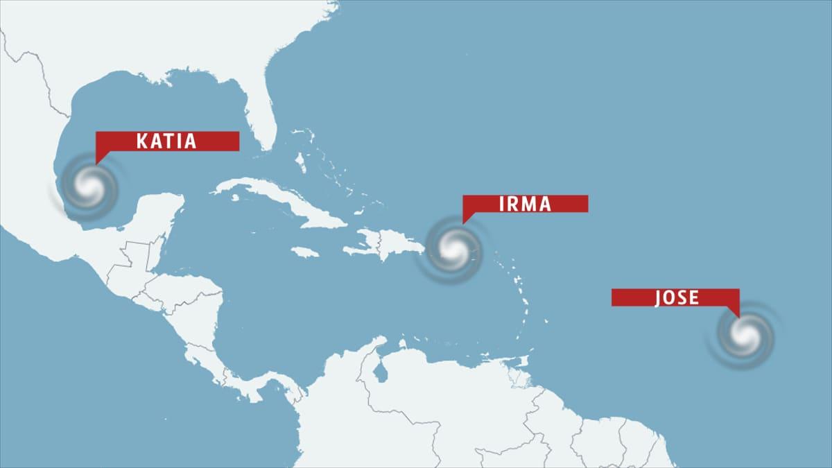 Hurrikaanien ennuste 6. syyskuuta.