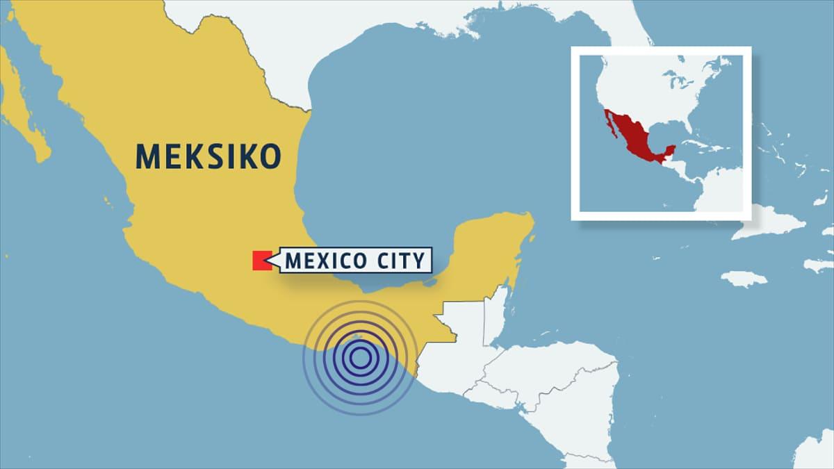 meksikon kartta