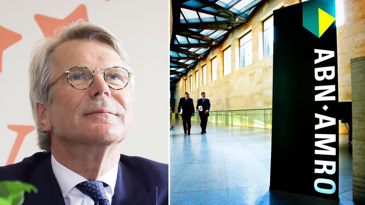 Björn Wahlroos ja ABN Ambron pääkonttori.