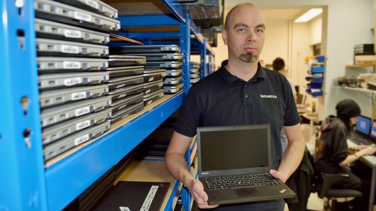 Oululainen Taitonetti kierrättää käytettyjä yrityskoneita uusiokäyttöön