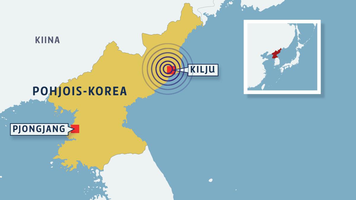 pohjois-korean kartta