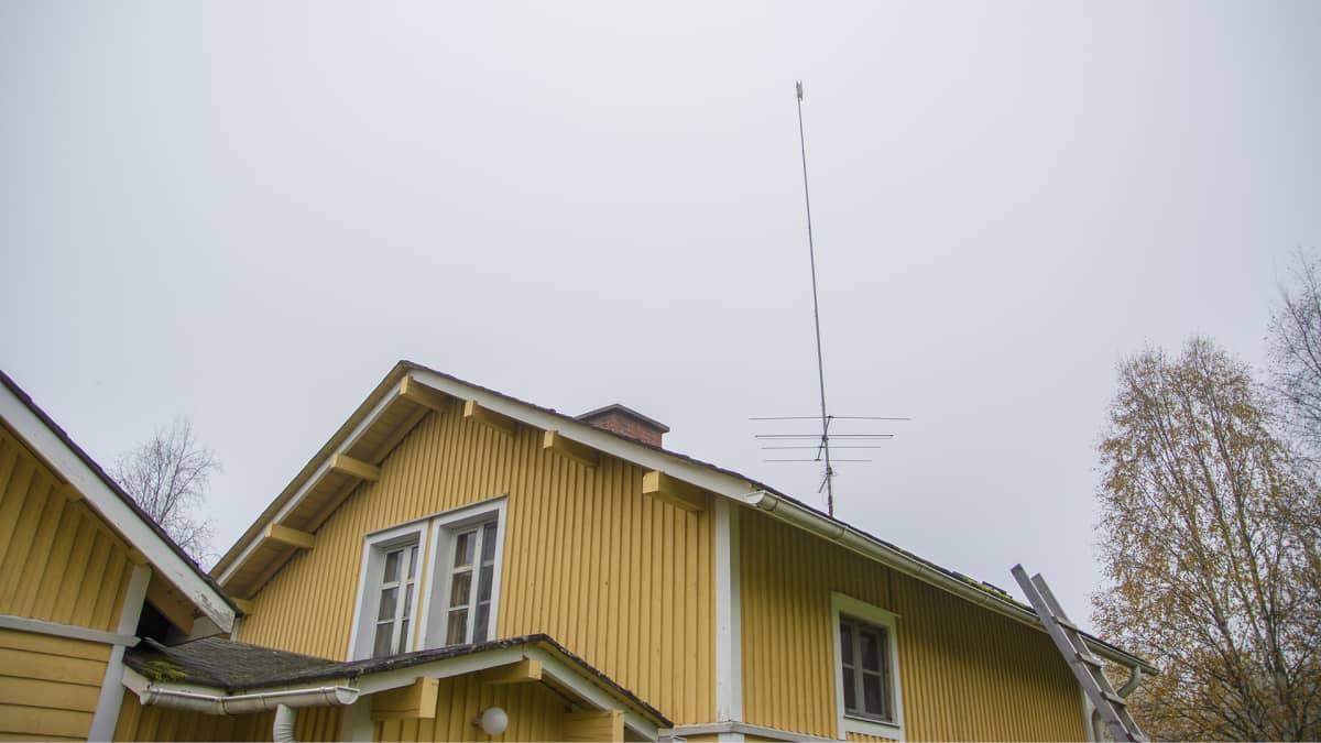 Philip Donnerin katolla oleva WiMax-antenni