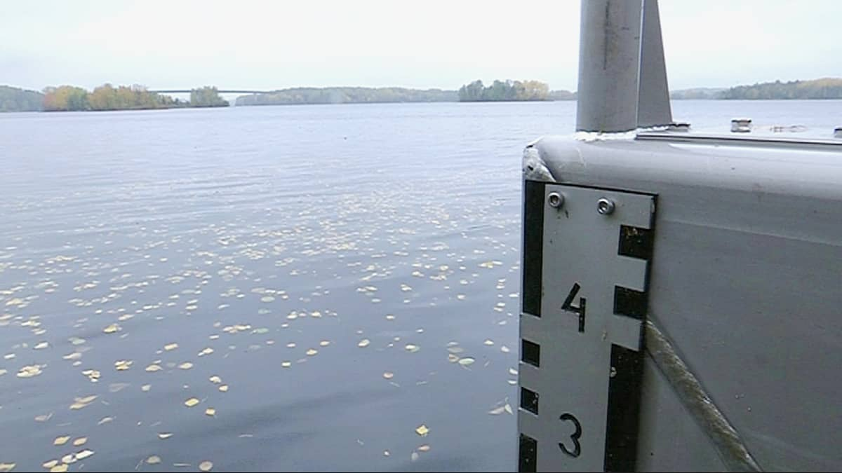 Veden korkeuden mittauspiste.