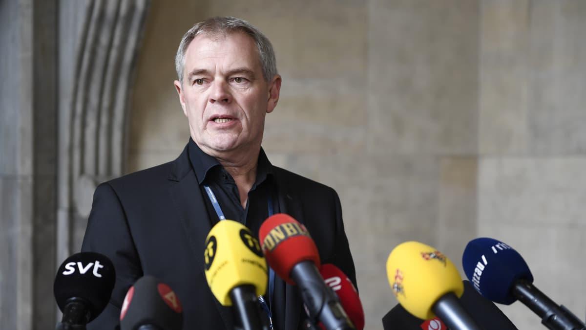 Kööpenhaminan poliisin murhaosaston päällikkö Jens Møller Jensen puhui lehdistölle 7. lokakuuta 2017.