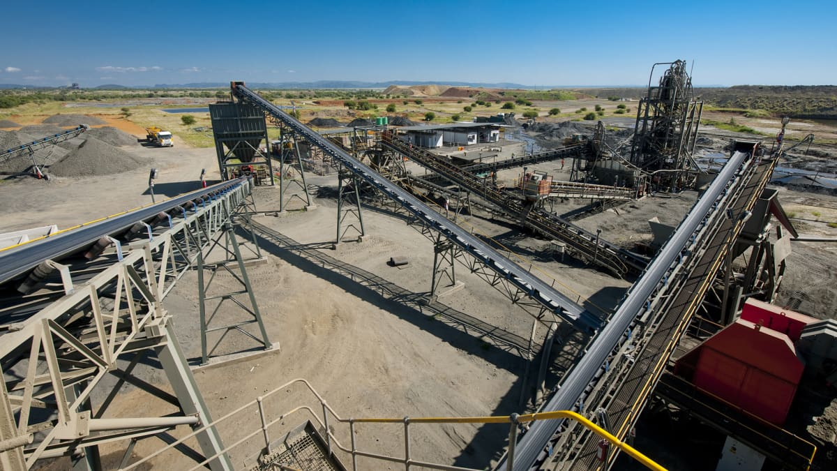 Stelliten kaivos Etelä-Afrikassa.