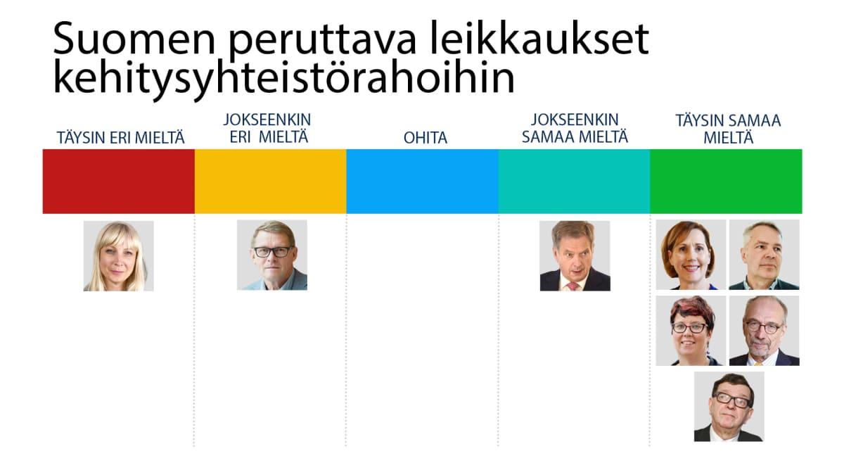 Suomen peruttava kehitysavun leikkaukset-kysely