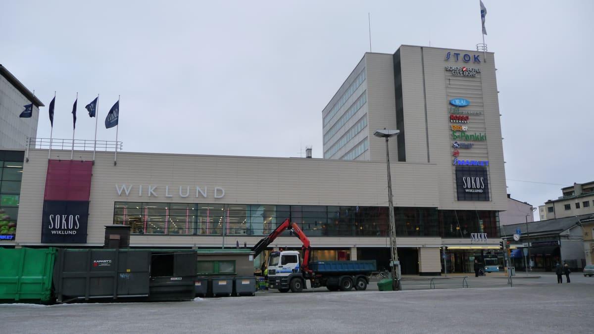 Wiklundin tavaratalo Turun keskustassa.