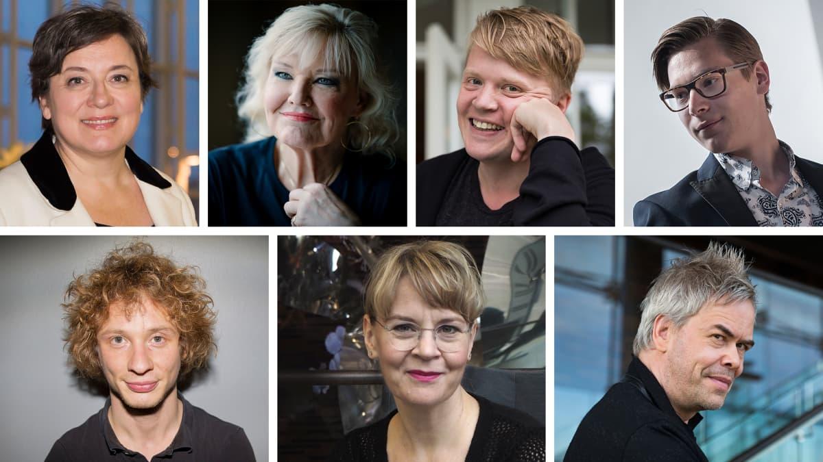 Lilli Paasikivi, Karita Mattila, Pekka Kuusisto, Klaus Mäkelä, Santtu-Matias Rouvali, Susanna Mälkki ja Hannu Lintu.