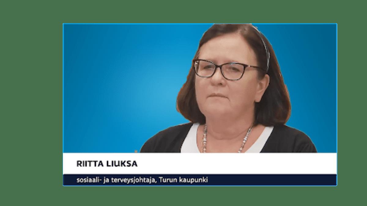 Turun sairaala- ja terveyspalveluiden johtaja Riitta Liuksa